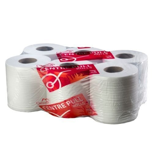 Centre Feed Rolls White 2-Ply 150mtr x 195mm (6)