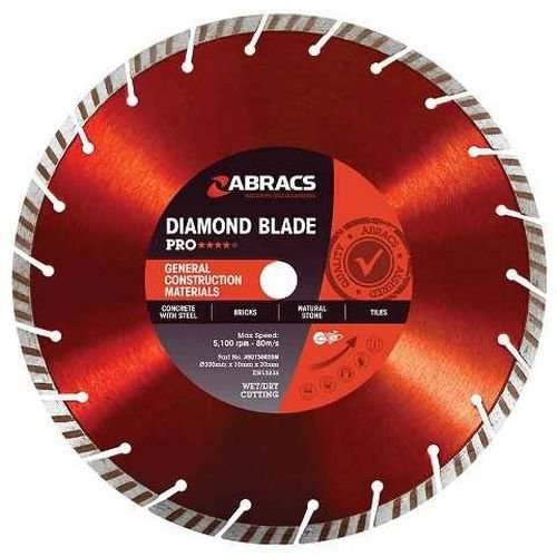 450mm x 25.4mm Turbo Diamond Blade General Purpose