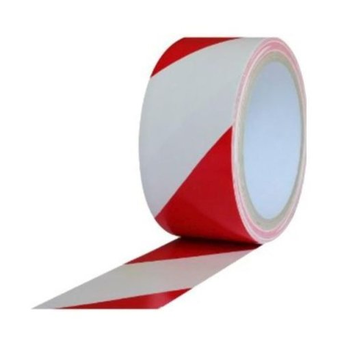 Red/White Hazard Adhesive Tape 50mm x 33mtr