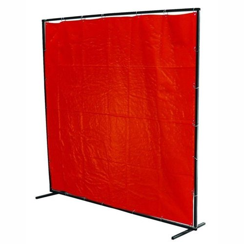 8' x 6' Orange PVC Curtain                .
