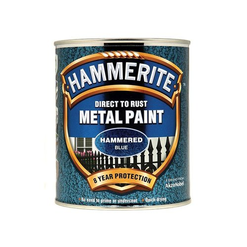 Direct to Rust Hammered Finish Paint Blue 750ml