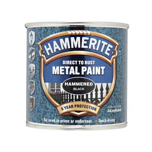 Direct to Rust Hammered Finish Paint Black 250ml