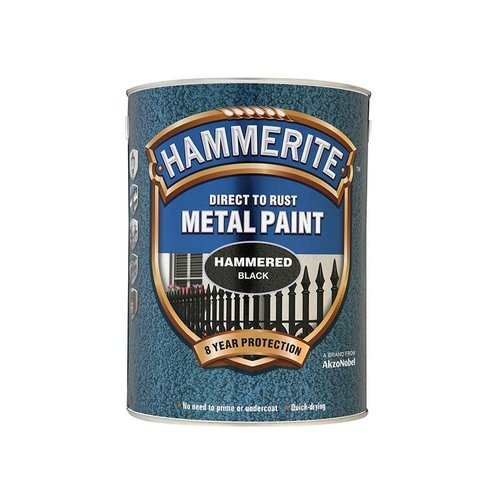 Direct to Rust Hammered Finish Paint Black 5ltr