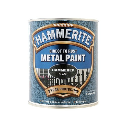 Direct to Rust Hammered Finish Paint Black 750ml