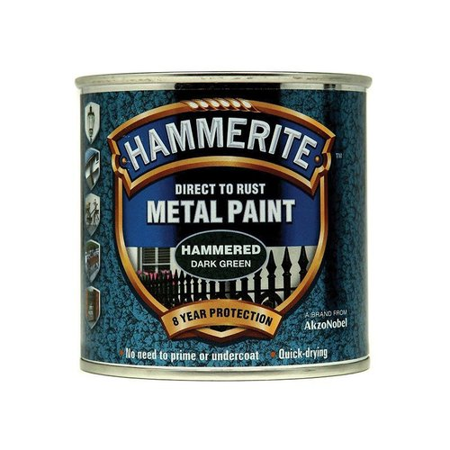 Direct to Rust Hammered Paint Dark Green 250ml