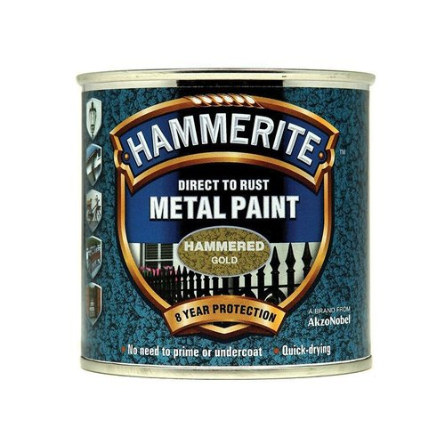 Direct to Rust Hammered Finish Paint Gold 250ml