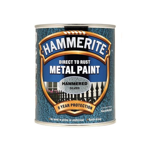 Direct to Rust Hammered Finish Paint Silver 750ml