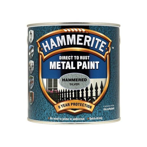 Direct to Rust Hammered Finish Paint Silver 2.5ltr