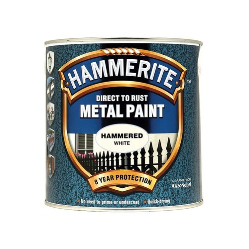 Direct to Rust Hammered Finish Paint White 2.5ltr
