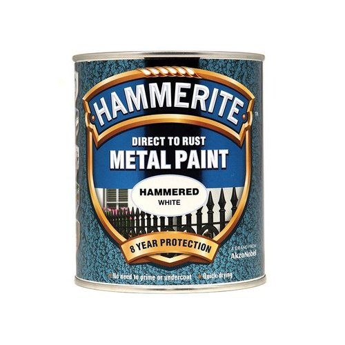 Direct to Rust Hammered Finish Paint White 750ml