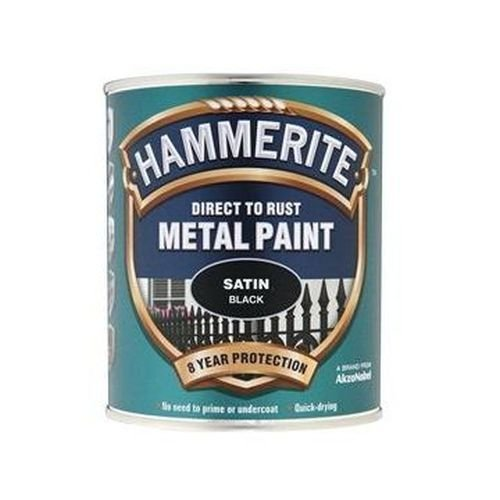 Direct to Rust Satin Finish Paint Black 750ml