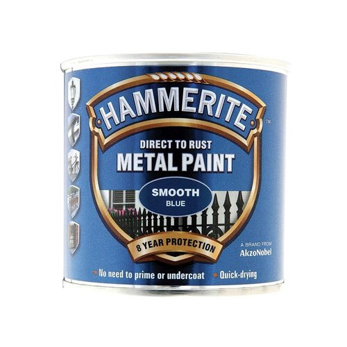 Direct to Rust Smooth Finish Paint Blue 250ml