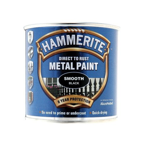 Direct to Rust Smooth Finish Paint Black 250ml