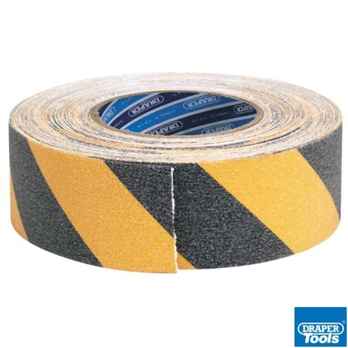 18M x 50mm Black & Yellow H/D Safety Grip Tape