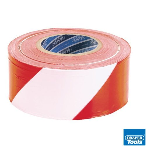 75mm x 500M Red & White Barrier Tape Roll