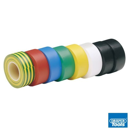 8 x 10M x 19mm Mixed Colours Insulation Tape