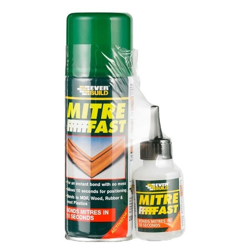 Everbuild Mitre Fast Adhesive Kit 200ml & 50g