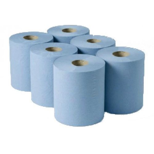 Centre Feed Rolls Blue 2-Ply 150mtr x 180mm (6)