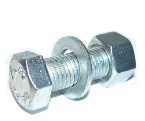M16 x 50 Assembled Bolting Set/Nut/Washer Zinc 8.8