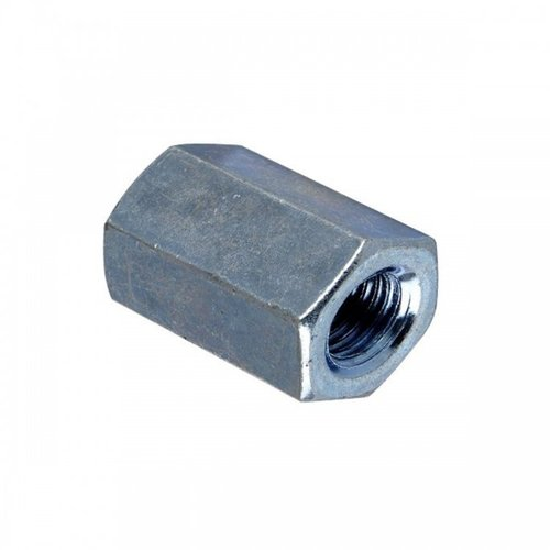 M10 x 30mm Hex Connecting Nut Class 6 Zinc Plated