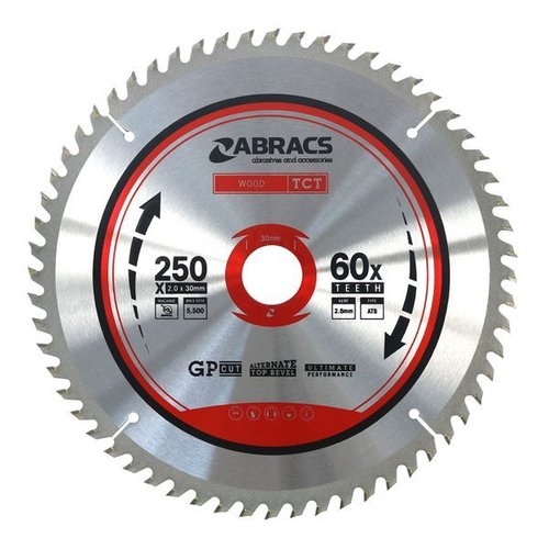 TCT Blade 250mm x 30mm x 60T - Wood
