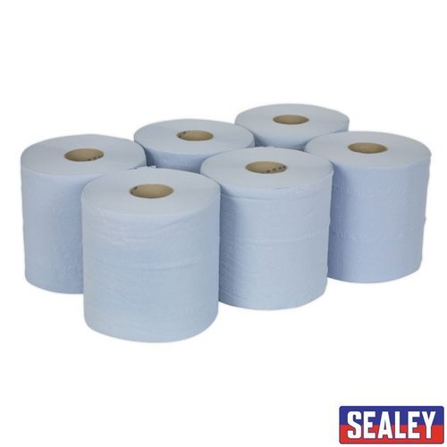 Paper Roll Blue 2Ply Embossed 150mtr Pack 6