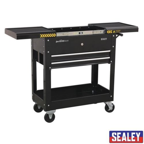 Mobile Tool & Parts Trolley Black