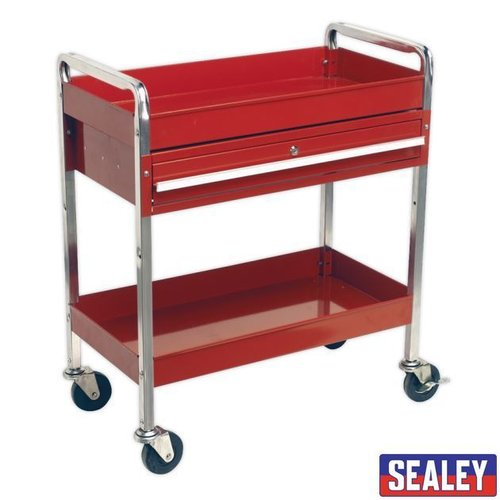 Trolley 2-Level Heavy-Duty Lockable Drawer