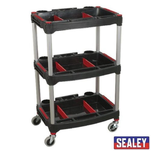 Workshop Trolley 3-Level Composite with PartsStorage