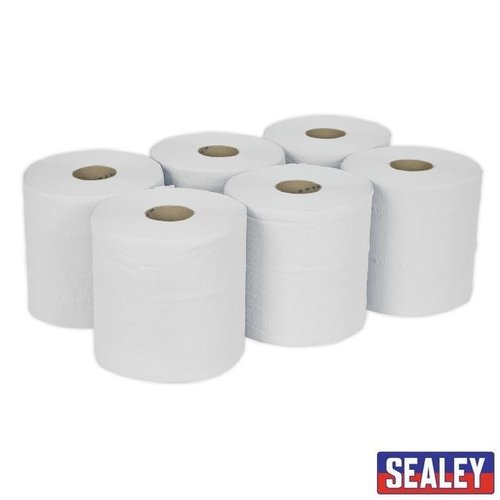 Paper Roll White 2-Ply Embossed 150m Pack of 6