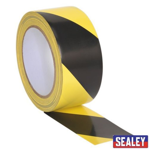 Hazard Warning Tape 50mm x 33m Black/Yellow