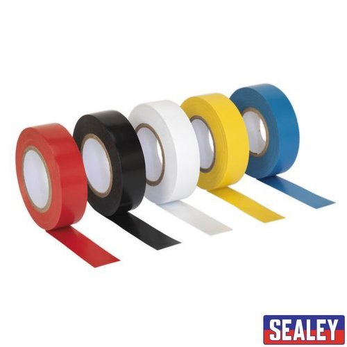 PVC Insulating Tape 19mm x 20m Mixed Colours Packof 10