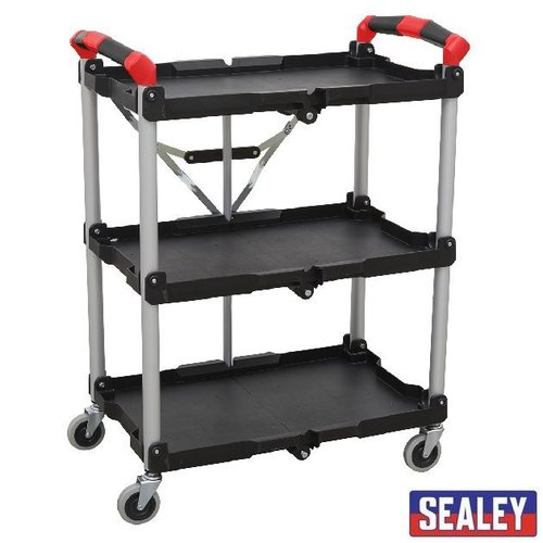 Folding Workshop Trolley 3-Level